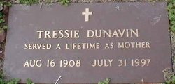 Mrs Tressie Florence <i>Ladd</i> Dunavin