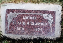 Eliza Mary Ann Affleck <i>Spencer</i> Glasener