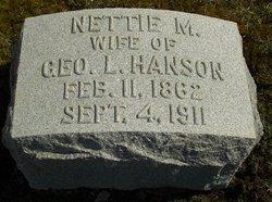 Nettie M. <i>Fenn</i> Hanson