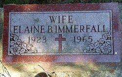Elaine B. <i>Smith</i> Immerfall