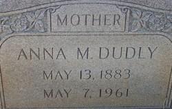 Anna M <i>Hall</i> Dudley