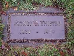 Agnes B <i>Morgenthaler</i> Thistle