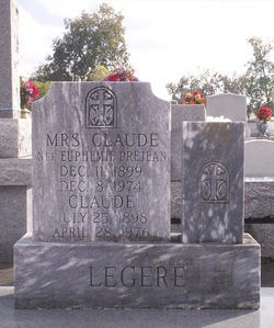 Euphemie Phemie <i>Prejean</i> Legere
