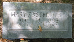 Mary E <i>McConnell</i> Foster Rush