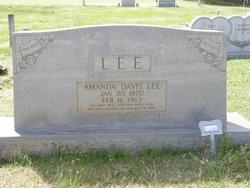 Amanda <i>Davis</i> Lee