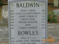 Joanna Elizabeth <i>Bowles</i> Baldwin