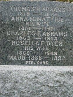 Rosella E. <i>Dyer</i> Abrams