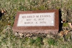 Mildred Mae <i>Montgomery</i> Evans