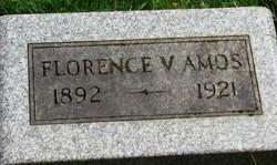 Florence V <i>Burtis</i> Amos