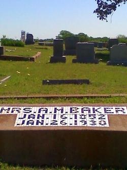 Mrs A. M. Baker