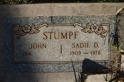 Sadie Deloss(Delores) <i>Sherwood</i> Stumpf