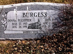 Donna <i>Pulsipher</i> Burgess