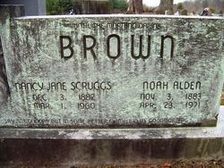 Nancy Jane <i>Scruggs</i> Brown