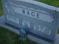Lillie Jane Janie Bage