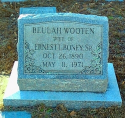 Beulah <i>Wooten</i> Boney