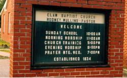 Elam Baptist Church Cemetery