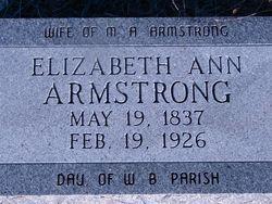 Elizabeth Ann <i>Parrish</i> Armstrong