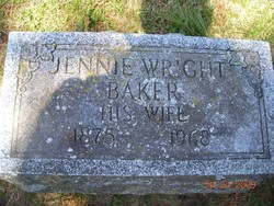 Jennie E. <i>Wright</i> Baker