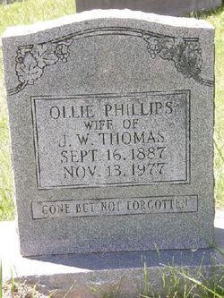 Ollie <i>Phillips</i> Thomas