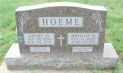 Matilda H <i>Briggeman</i> Hoeme