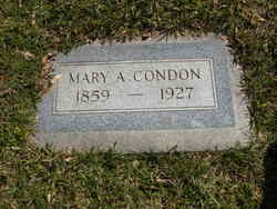 Mary Ann <i>Swasey</i> Condon