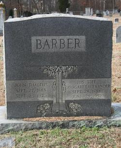 Margaret <i>Alexander</i> Barber
