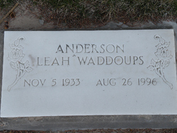 Leah <i>Waddoups</i> Anderson