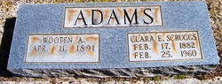 Clara E. <i>Scruggs</i> Adams
