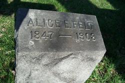 Alice E Felt