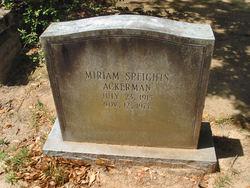 Miriam <i>Speights</i> Ackerman