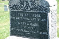 Mary A <i>Hann</i> Anderson