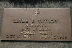 Pvt Clyde Ellsworth Taylor