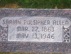 Sariah Eliza <i>Pulsipher</i> Allen