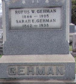 Sarah E <i>Shepley</i> Gehman