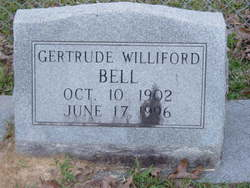 Gertrude <i>Williford</i> Bell