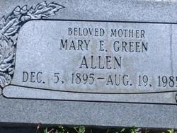 Mary E <i>Green</i> Allen