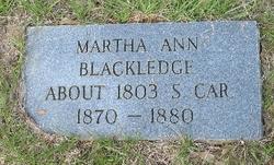 Martha Ann <i>Breland</i> Blackledge