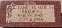Jeanette Pauline <i>Neilson</i> Brown