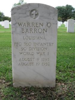Warren O Barron