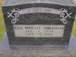 Eva Loyd <i>Wright</i> Abraham