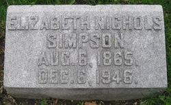 Elizabeth <i>Barnard Nichols</i> Simpson