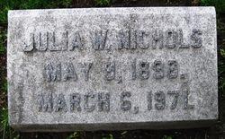 Julia Maria <i>Williams</i> Nichols