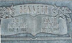 Ada <i>Olsen</i> Bennett