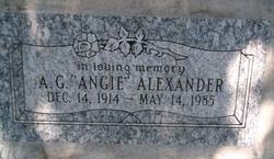 A G Angie Alexander
