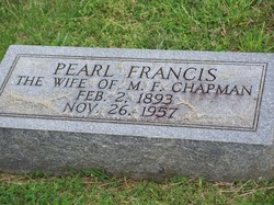 Pearl <i>Francis</i> Chapman