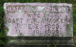 Martha Ann Mattie <i>Spiller</i> Amacker