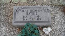 Sarah Alice <i>Thompson</i> Haynie