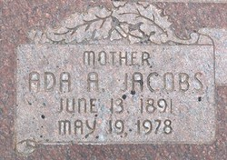 Ada Araminta <i>Jacobs</i> Steed