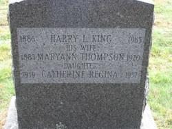 Mary Ann <i>Thompson</i> King