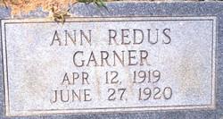 Ann <i>Redus</i> Garner